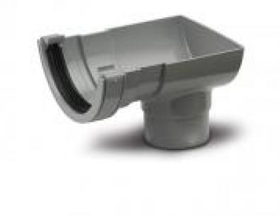Polypipe Half Round Stop End Outlet
